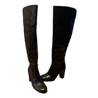 NWOB Tory Burch Bowie Over the Knee Boots Black 8