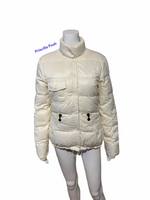 Moncler Ivory White Down Puffer Jacket Winter Coat