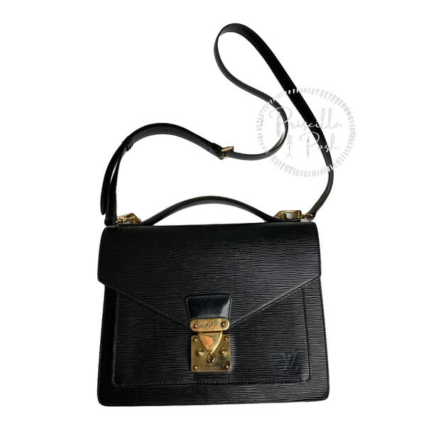 Louis Vuitton Monceau in Black Epi Leather 2-way