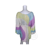 Retrofete Grace Sequin Dress Multi Color Swirl
