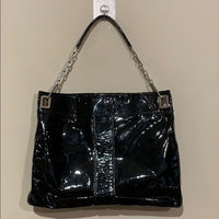 Roger Vivier Patent Leather Metro Shoulder Bag