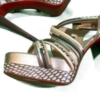 *SOLD* Christian Louboutin Meteorita Animal Cobra Sandals