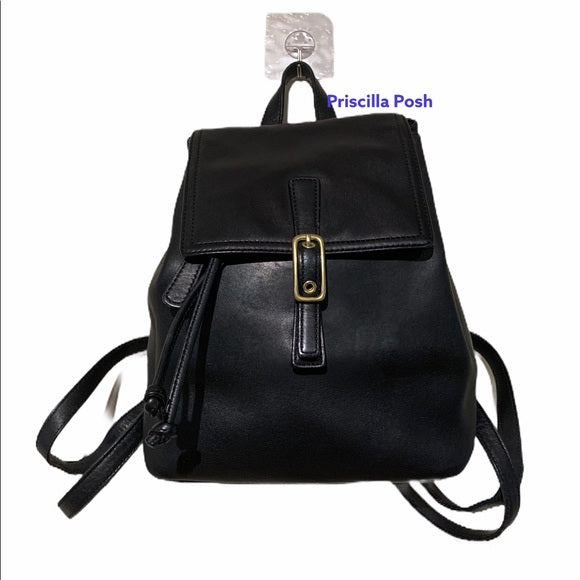 Vintage Coach Legacy Black Leather Backpack 9858
