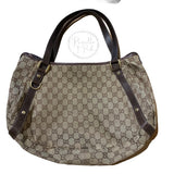 GUCCI Monogram Medium Abbey Shoulder Bag Brown