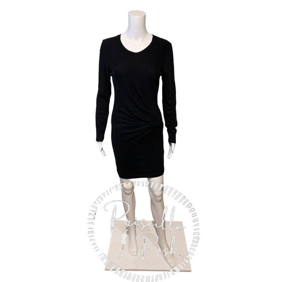 Iro Aenor Twist-Front Long-Sleeve Sweater Dress