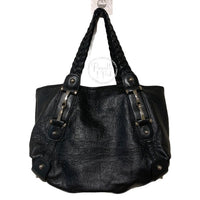 Gucci Pelham Shoulder Bag Guccissima Leather Black