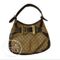 Gucci Hobo Queen Bow Guccisimma Logo Shoulder Bag