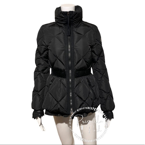 Moncler Mary Giubotto Down Peplum Puffer Jacket