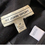 St. John Sport Black Fitted Blazer / Jacket