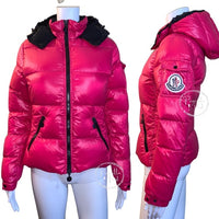 Moncler BADIA Real Down Jacket Hot Pink Puffer