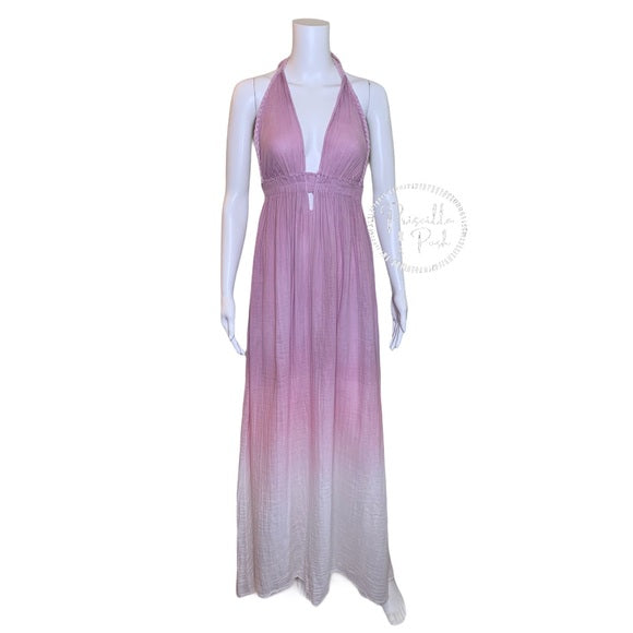 LoveShackFancy Braided Love dress ombre voile maxi