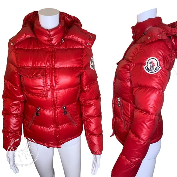 Moncler Red Goose Down Puffer Jacket Coat