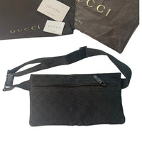 Gucci Brown Canvas Fanny Pack Belt Bag Waist Bag
