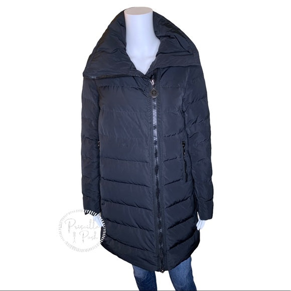 Moncler 'Gerboise' Asymmetrical Zip Down Coat