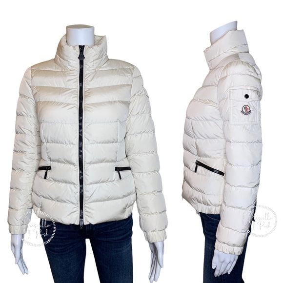 "Moncler ""Saby"" Jacket White Puffer Down Coat"