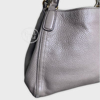 Gucci Soho Convertible Shoulder Bag Leather Taupe