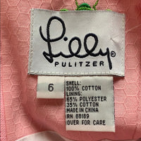 Lilly Pulitzer Pink High Neck Dress Green Bees
