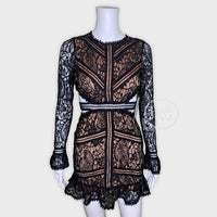 NWT For Love & Lemons Emerie Cut Out Dress Black