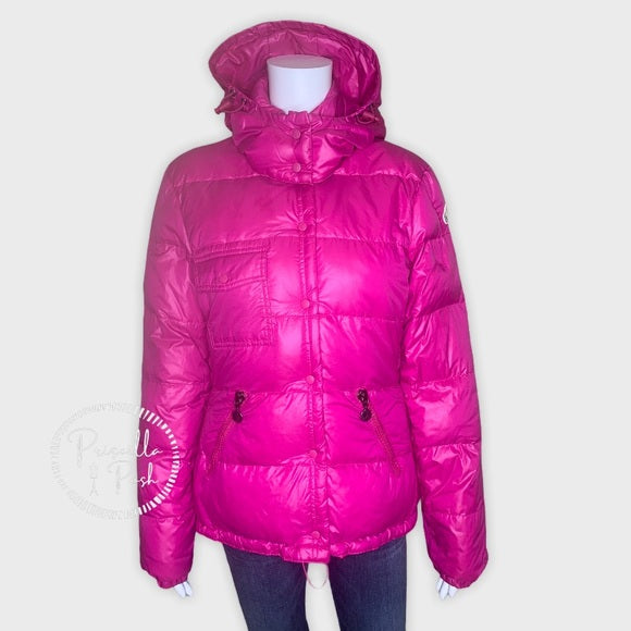 Moncler Bright Pink Goose Down Puffer Winter Coat