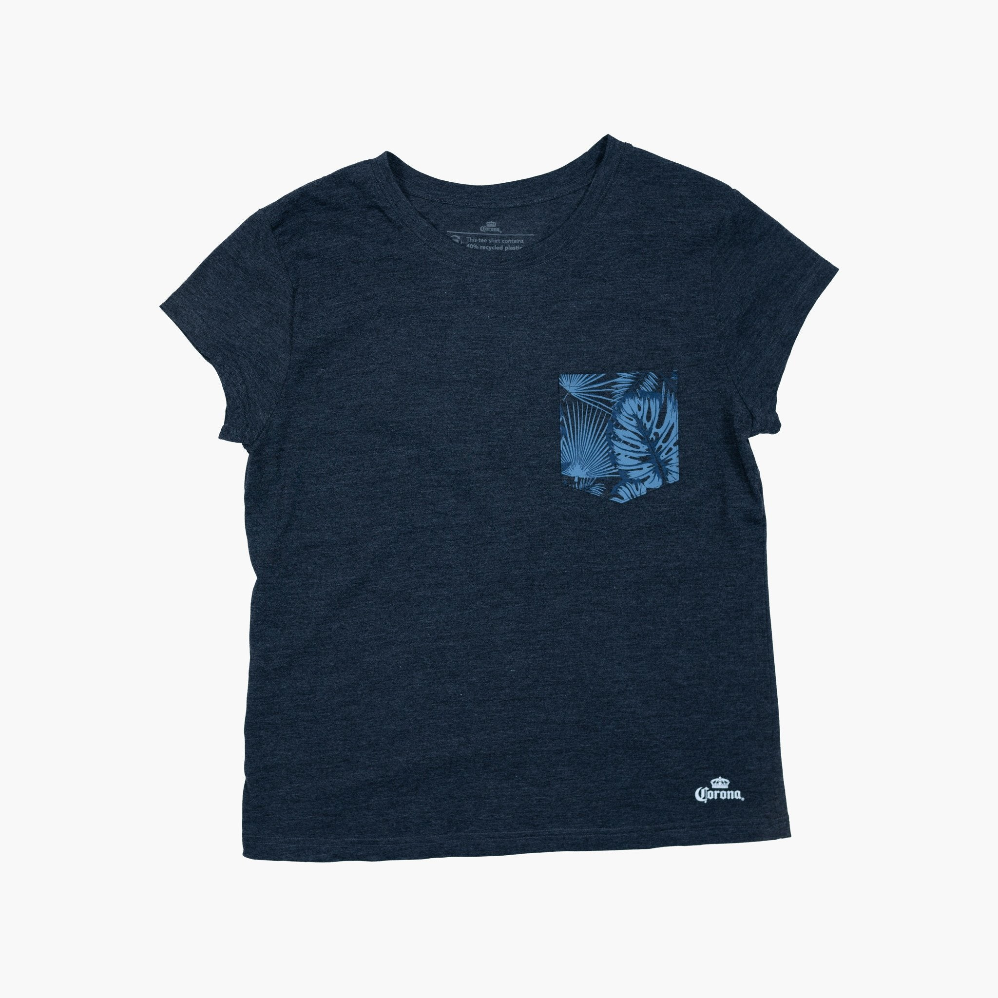 Women's Paradise Pocket Tee - Charcoal Heather