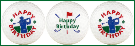 Happy Birthday w/ Golfer & Clubs - 25