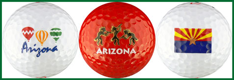 Arizona w/ Balloons, Red Kokopelli & Flag - AZVS
