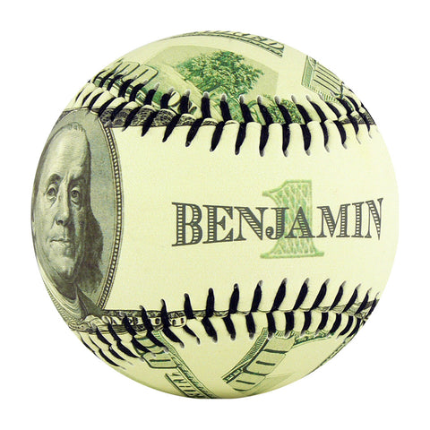Ben Franklin $100 Bill Baseball - B-BNFRH