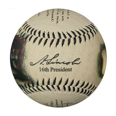 Lincoln Portraits w/ Gettysburg Address Baseball - B-LINGH