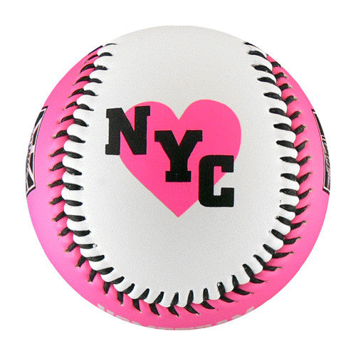 New York Pink/White T-Ball (Rubber Core) - B-NYPK