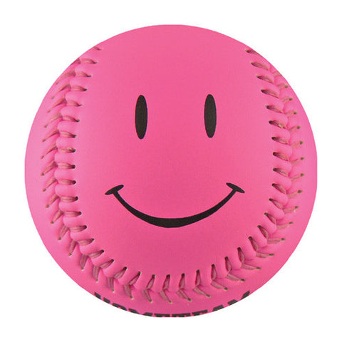 Pink Happy Face T-Ball (Rubber Core) - B-PSML