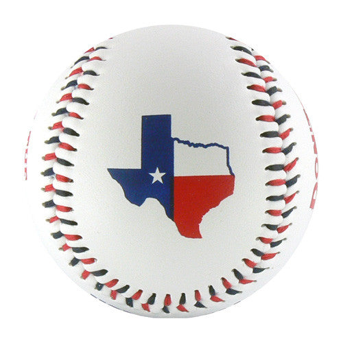 Texas Red, White & Blue T-Ball (Rubber Core) - B-TXRB