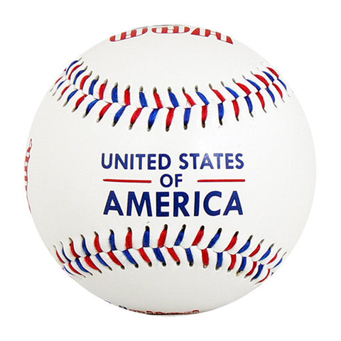 USA White T-Ball (Rubber Core) - B-USA