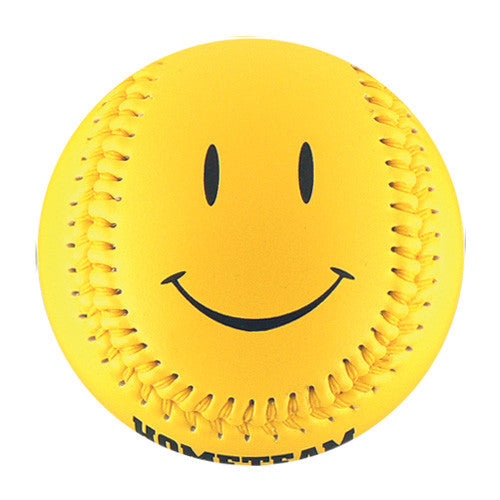Yellow Happy Face T-Ball (Rubber Core) - B-YLSM