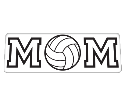 Mom w/ Volleyball - D-MMVL