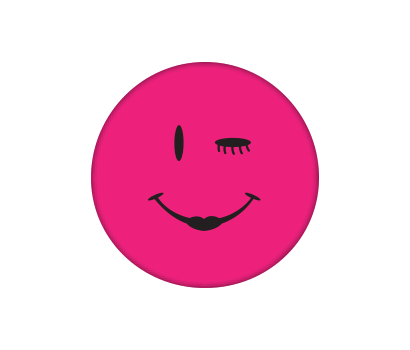 Pink Happy Face - D-PKSM