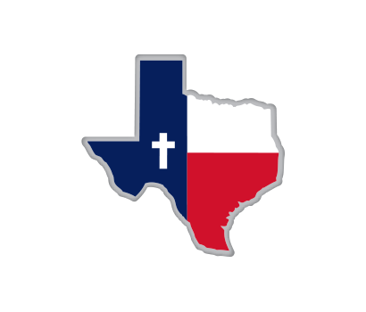 Texas Flag Map w/ Cross - D-TFCR