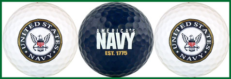US Navy Golf Balls - NAVY