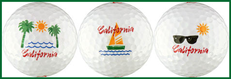 California w/ Palms, Sailboat & Glasses - CALF