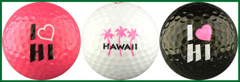 Hawaii w/ Pink Heart & Palms - HPHP
