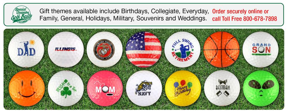 EnjoyLife Inc Gift Souvenir Themed Golf Balls