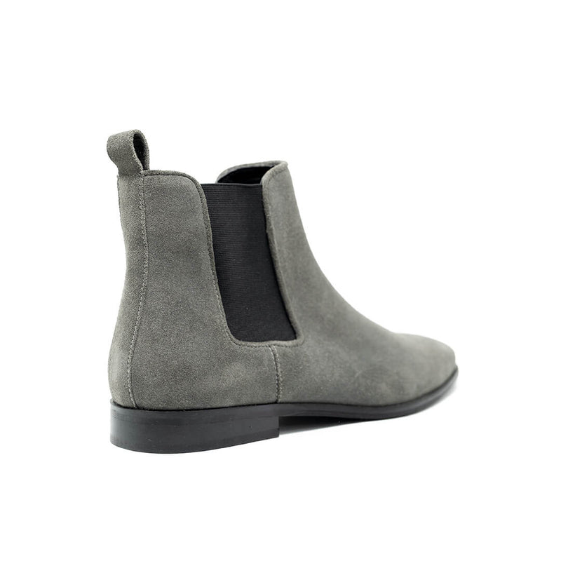 WALK London Alfie Chelsea Boots Grey Suede Back