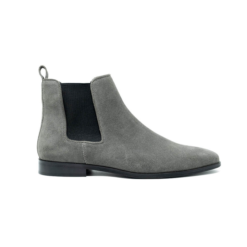 WALK London Alfie Chelsea Boots Grey Suede