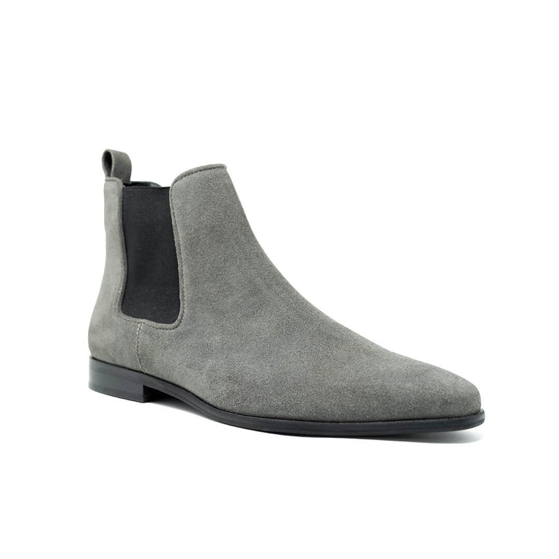 WALK London Alfie Chelsea Boots Grey Suede Side