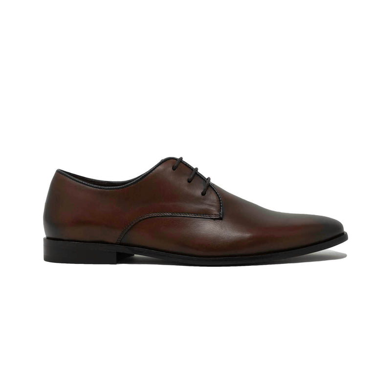 Mens Brown Leather Derby Shoes
