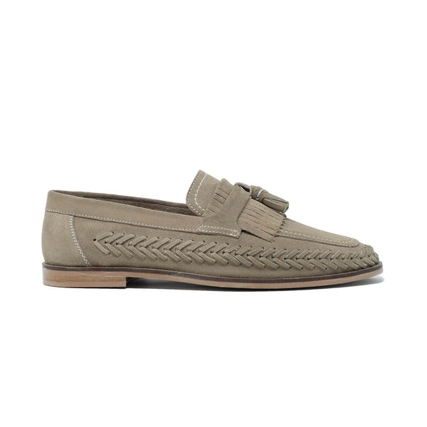 Walk London Arrow Loafers in Stone Suede