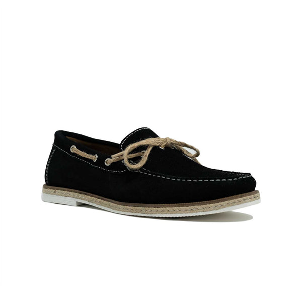 Men's Black Suede Lace Loafer
