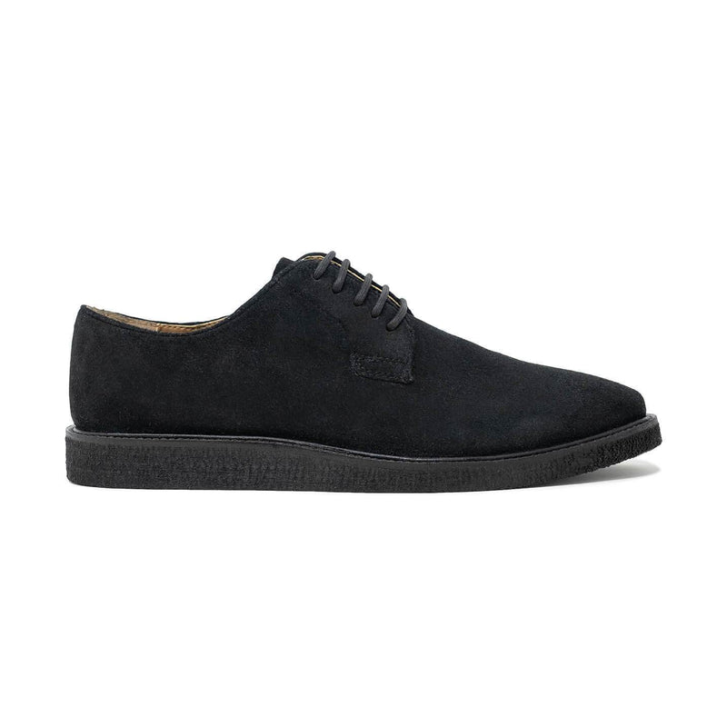 Walk London Del Derby Shoe in Black Suede