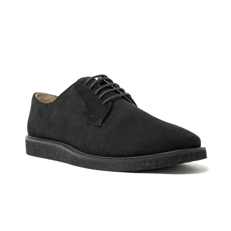 Black Suede Derby Shoe