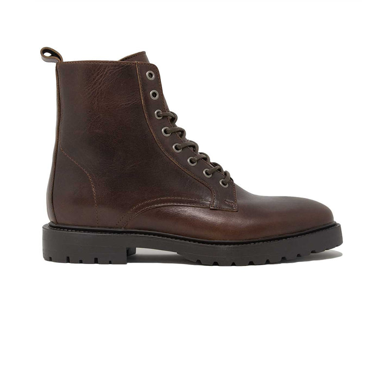 Walk London Harry Lace-up Boot in Brown