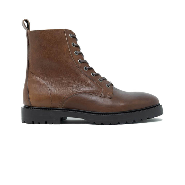 Walk London Harry Lace Up Boot in Brown